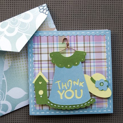 Pretty Thank You Card SVG Kit - Click Image to Close