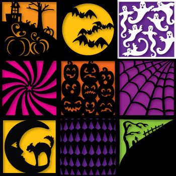 Salazar's Scary Squares SVG Collection