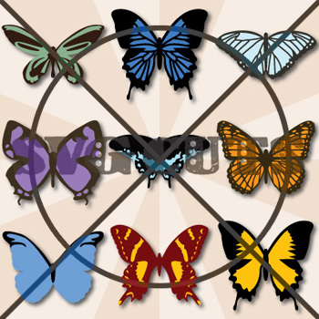 Breezy Meadow Butterfly SVG Collection