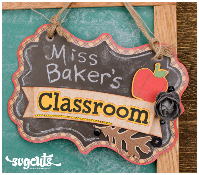 Miss Baker's Classroom SVG Kit - Click Image to Close