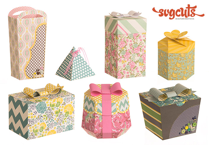 Gift Boxes SVG Kit - Click Image to Close