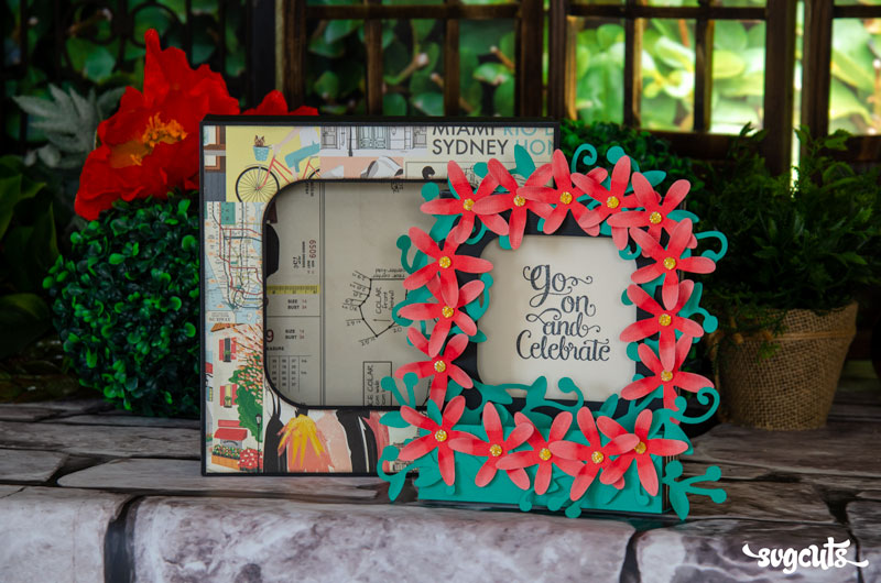 Oversized Floral Box Card - Click Image to Close