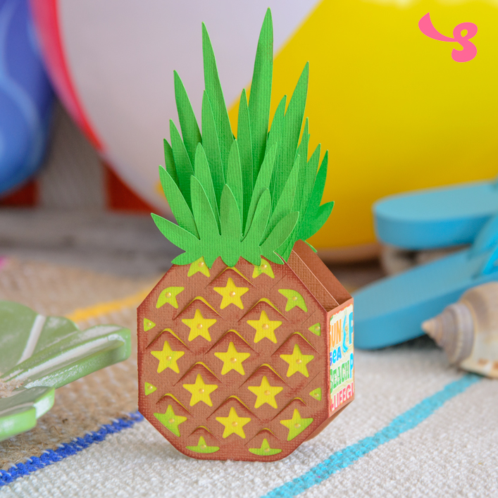 Pineapple Box Card - Click Image to Close