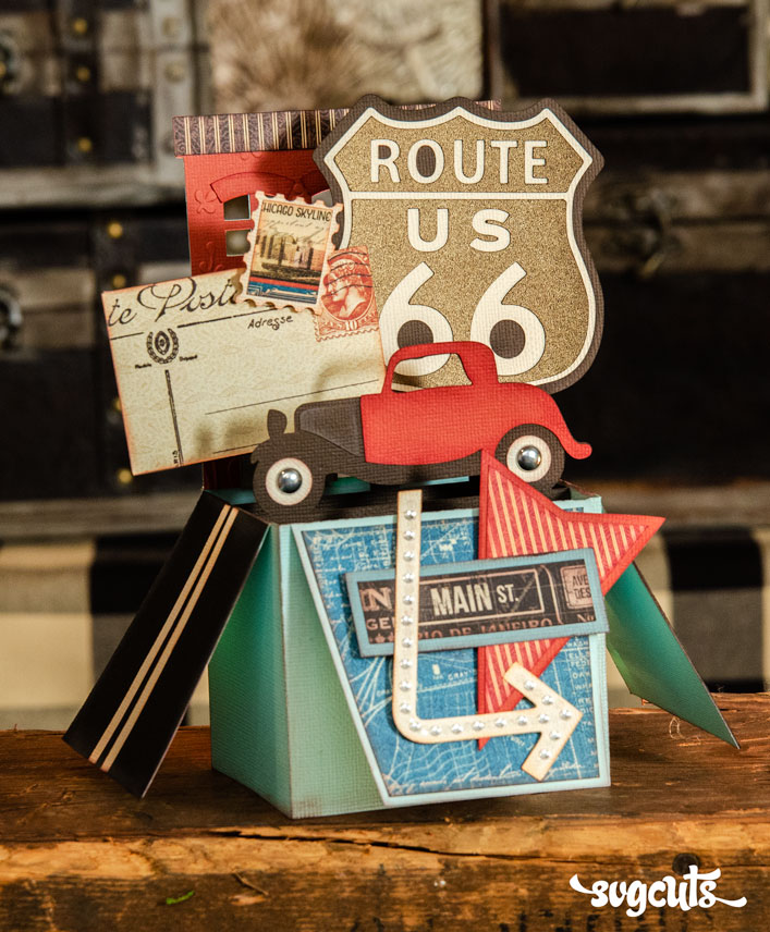 Route 66 Box Card - Click Image to Close