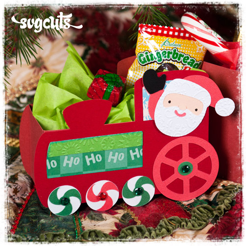 Santa's Train SVG Kit - Click Image to Close