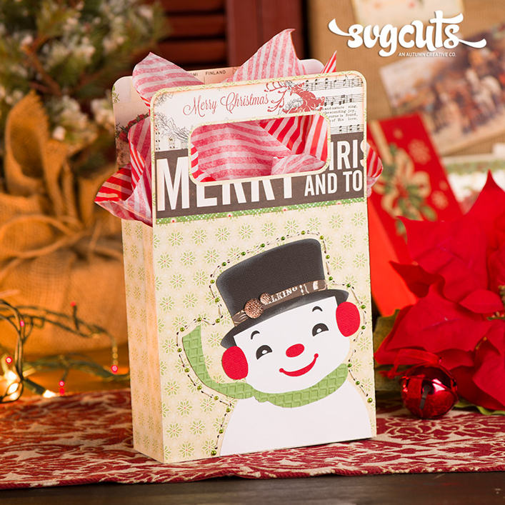 Snowman Gift Bag - Click Image to Close