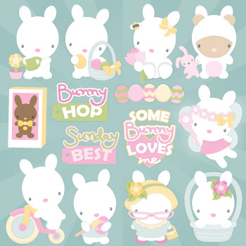 Spring Bunnies SVG Collection