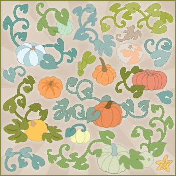 Heirloom Pumpkin Flourishes SVG Collection - Click Image to Close