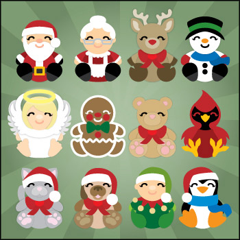 Christmas Cuddly Animals SVG Kit