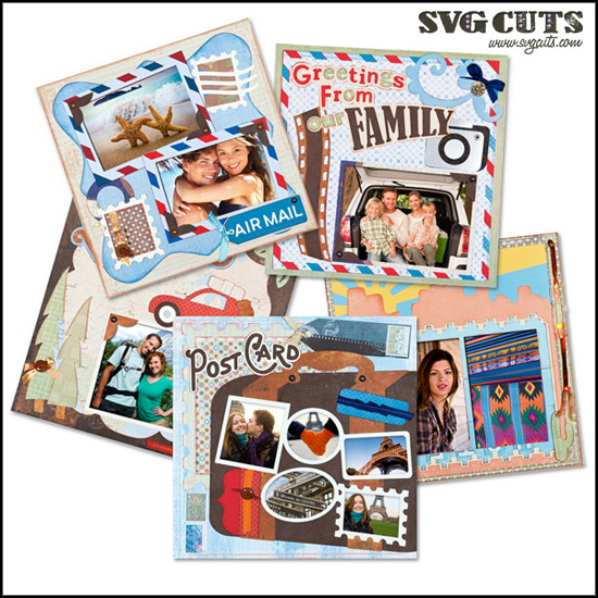 Cruising Caravan Scrapbook Pages SVG Kit