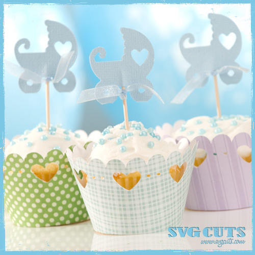Family Party Cupcake Wrappers SVG Kit - Click Image to Close