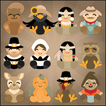 Autumn Cuddly Friends SVG Collection - Click Image to Close