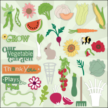 Veggie Garden SVG Collection Part 1 - Click Image to Close
