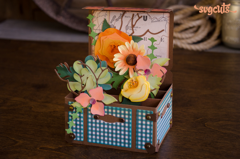 Trunk of Wildflowers Box Card - Click Image to Close