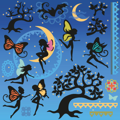Twilight Fairies SVG Collection - Click Image to Close