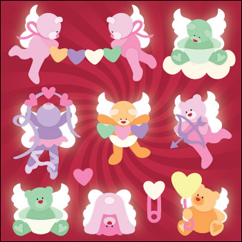 Candy Cherub Bears SVG Collection - Click Image to Close