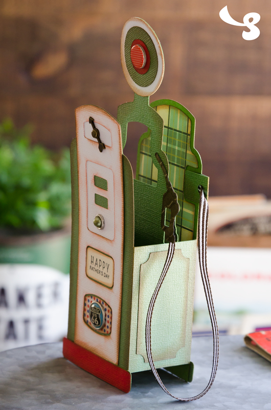 Vintage Gas Pump Box Card - Click Image to Close