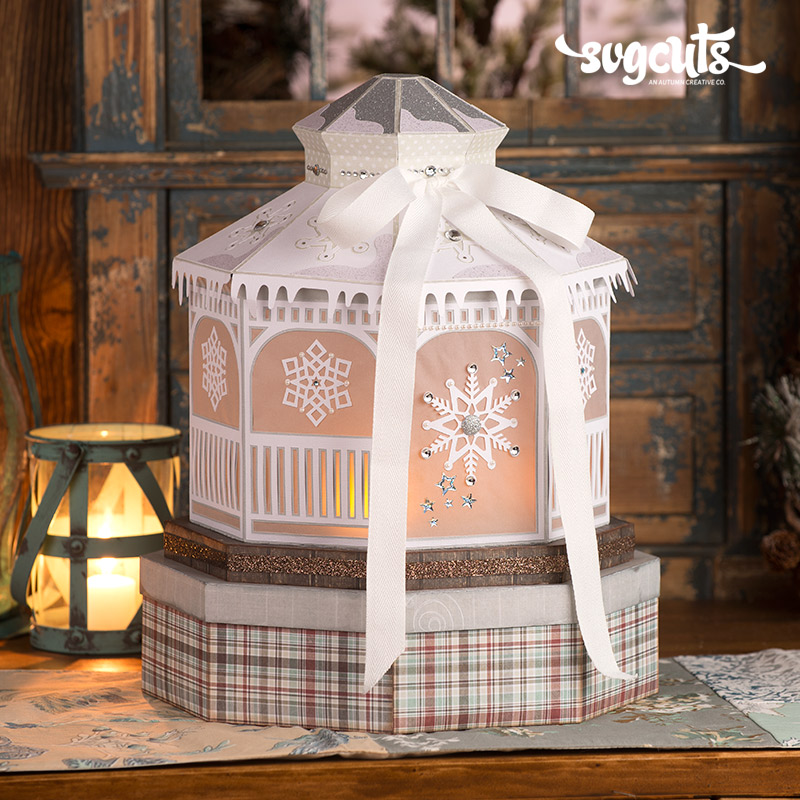 Winter Gazebo SVG Kit - Click Image to Close