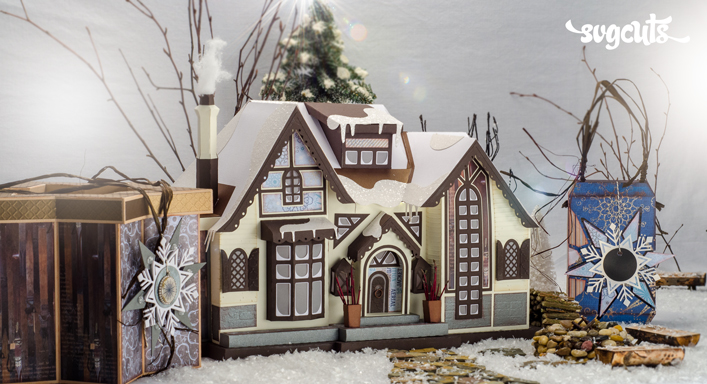 Winter Lodge SVG Kit - Click Image to Close