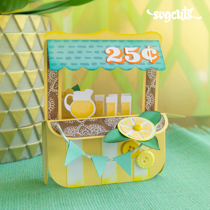 Lemonade Stand Box Card