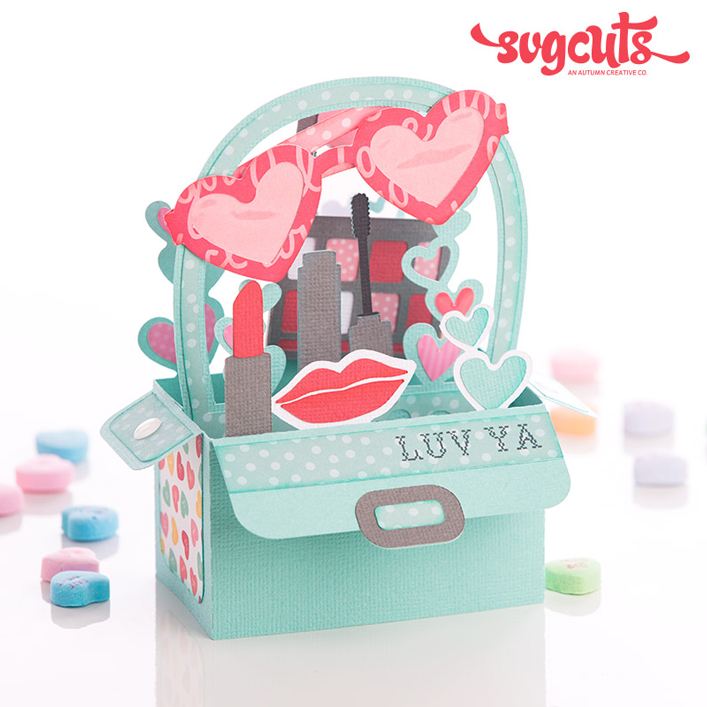 Makeup Bag Box Card