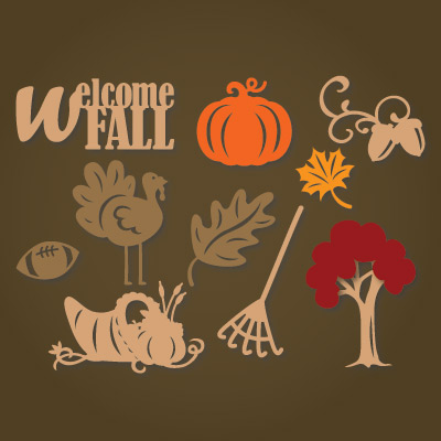 Autumn Elements SVG Collection