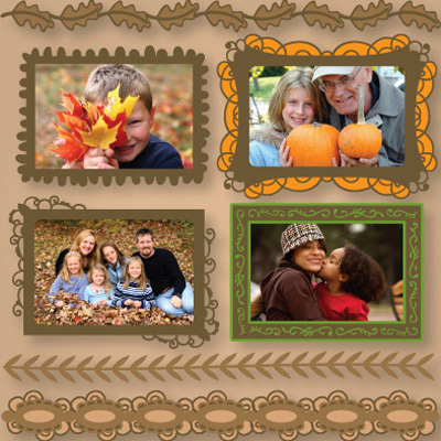 Fall Frames and Elements SVG Collection