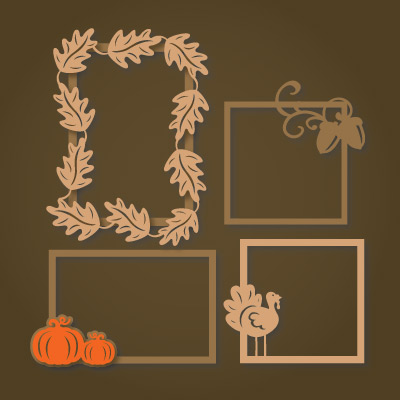 Autumn Frames SVG Collection
