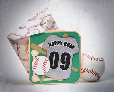 Baseball Birthday Card SVG Kit