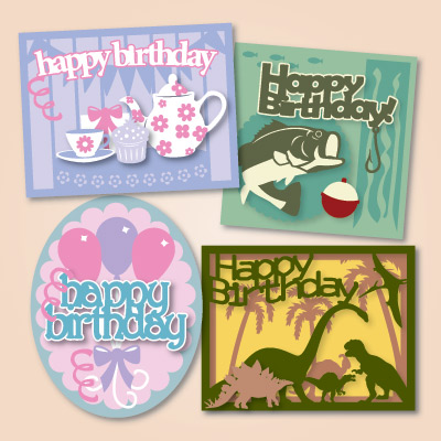Happy Birthday Cards SVG Kits