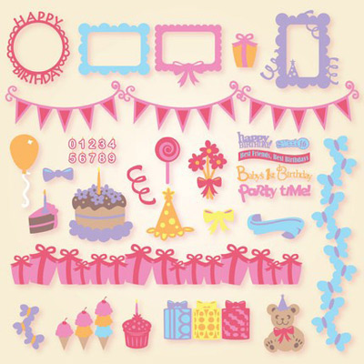 Birthday Elements SVG Collection