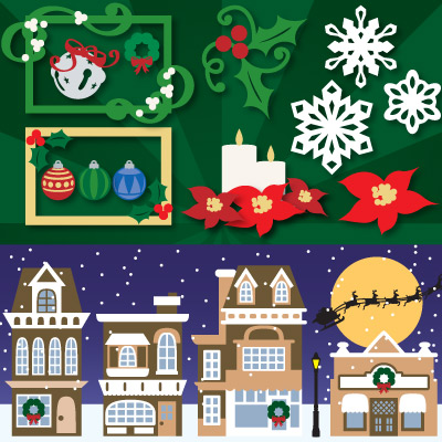 Christmas in the Village SVG Collection