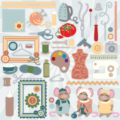 Crafty Mice SVG Collection