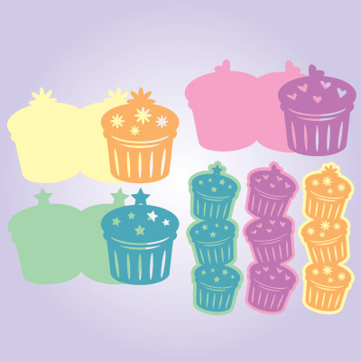 Cupcake Cards and Tags SVG Collection
