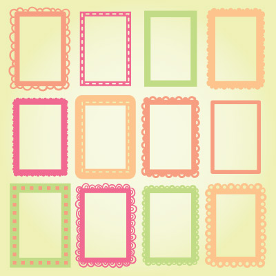 4x6 photo frames svg collection
