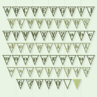 Letter Pennants SVG Kit