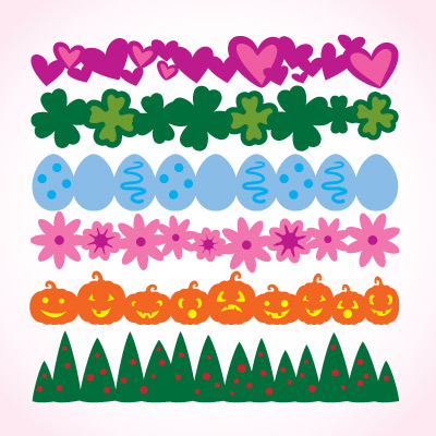 Seasonal Strips SVG Collection