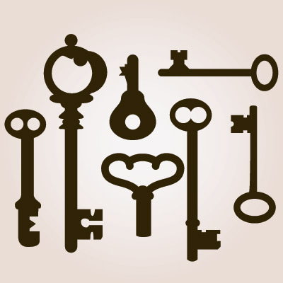 Antique Skeleton Keys SVG Collection