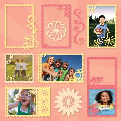 Summer Stamp Frames SVG Collection
