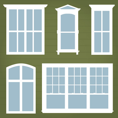 Townhouse Windows SVG Mini Pack