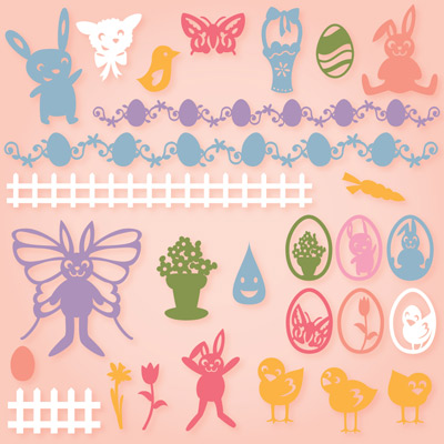 Easter Bunnies SVG Collection