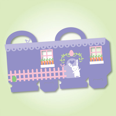 Bunny House Treat Bag SVG Kit