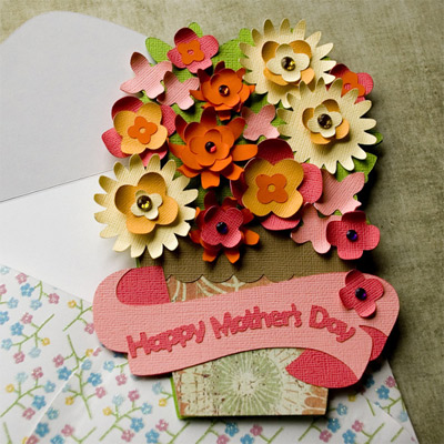 Mothers Day Flower Pot Card SVG Kit