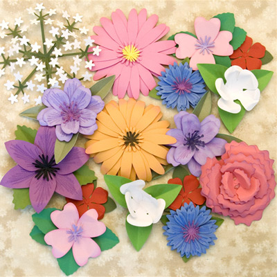 3D Flowers SVG Kit Part II