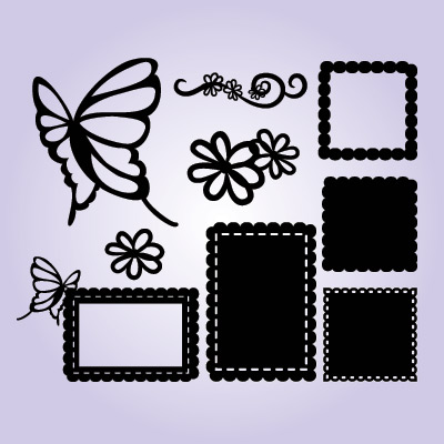 Butterfly Garden Frames SVG Collection