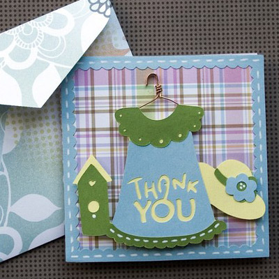 Pretty Thank You Card SVG Kit