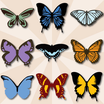 Breezy Meadow Butterflies SVG Collection