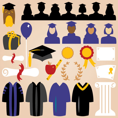 Graduation Elements SVG Collection