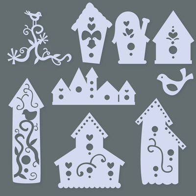 Birds and Birdhouses SVG Collection