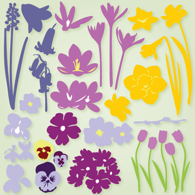 Organic Spring Flowers SVG Collection